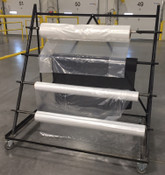 84 Inch Poly Bag Rack